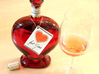 バレンタインギフトにハートのお酒