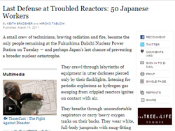 Last Defense at Troubled Reactors: 50 Japanese Workers