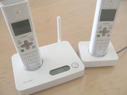シャープのデジタルコードレス電話
